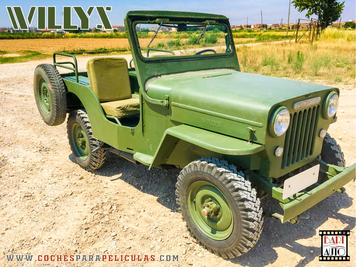 Jeep Willys para películas frontal