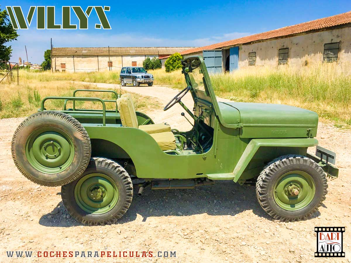 Jeep Willys para películas lateral