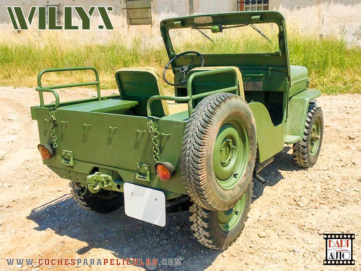 Jeep Willys para películas esquina