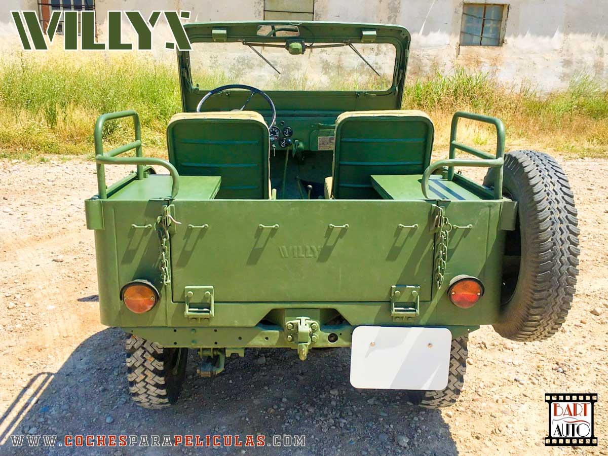 Jeep Willys para películas trasera