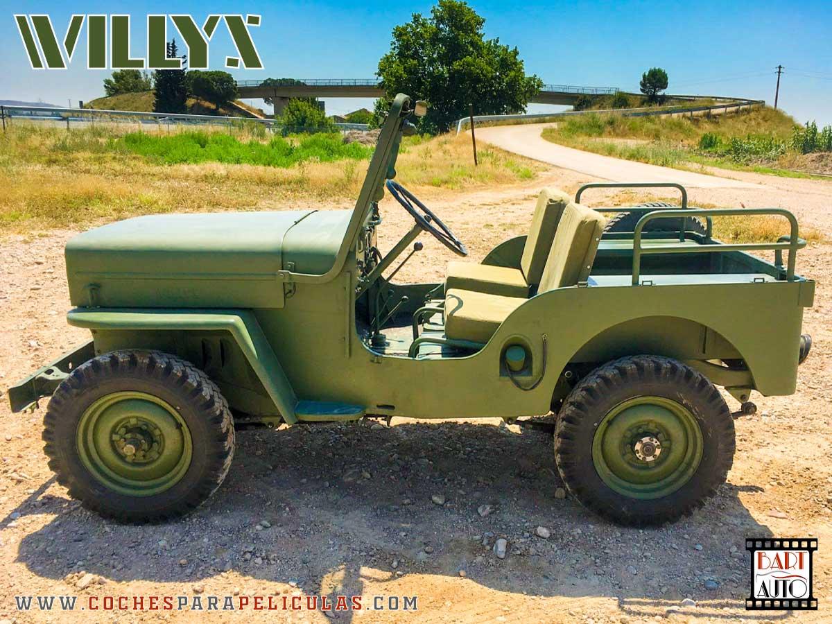 Jeep Willys para películas perfil