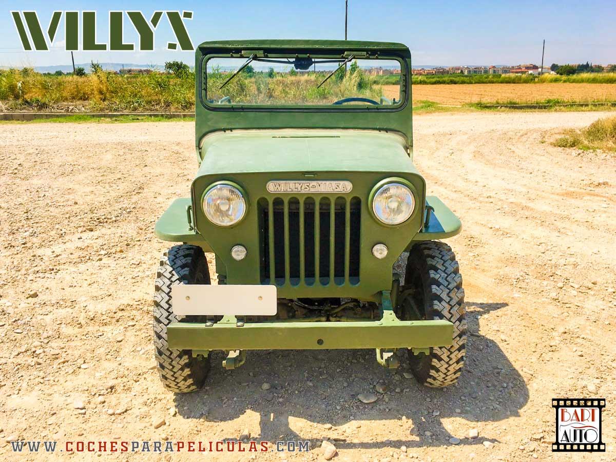 Jeep Willys para películas delantera