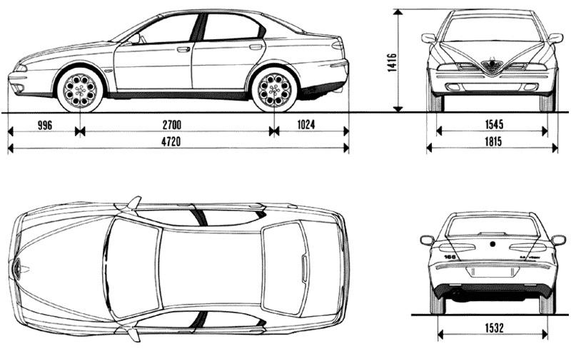 Alfa Romeo 166 para películas plano