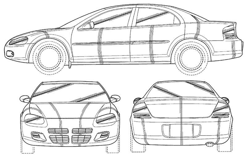 Alquiler de coches de escena Chrysler Stratus plano