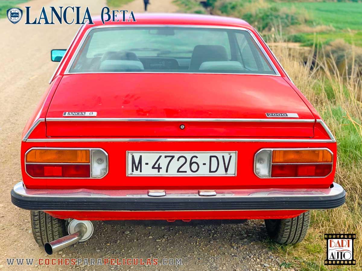 Alquiler de coches para rodajes Lancia Beta trasera