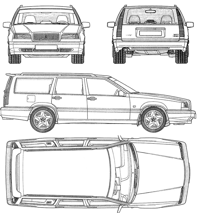 Alquiler de vehículos de escena Volvo 850 plano