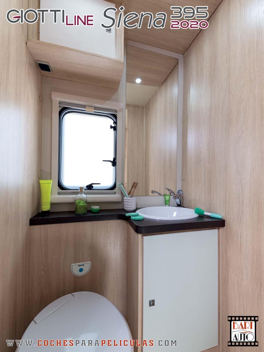 Autocaravana para rodajes Giottiline Siena 395 2020 baño