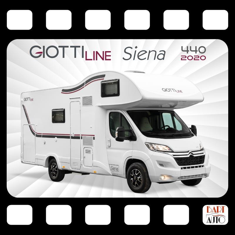 Autocaravanas de escena Giottiline Siena 440 2020 portada