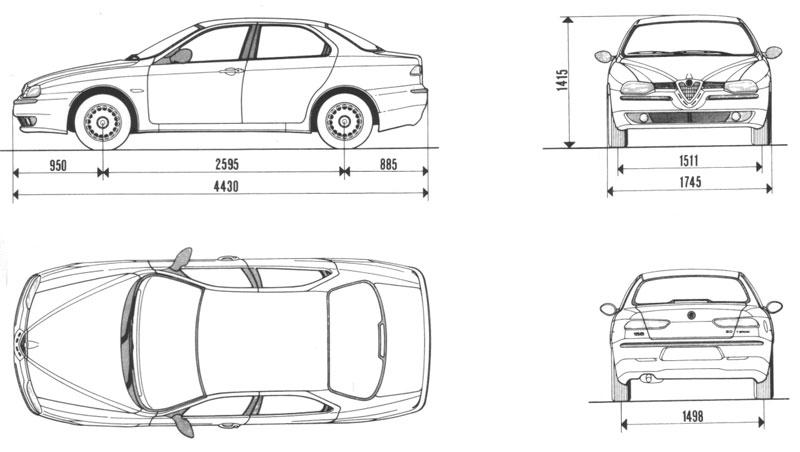 Coches de escena Alfa Romeo 156 plano
