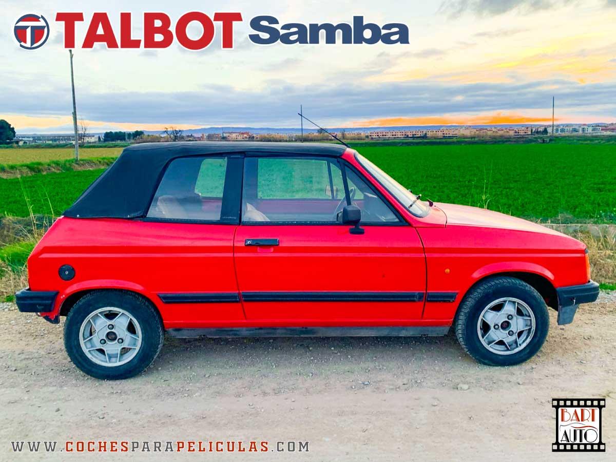 Coches de escena Talbot Samba lateral