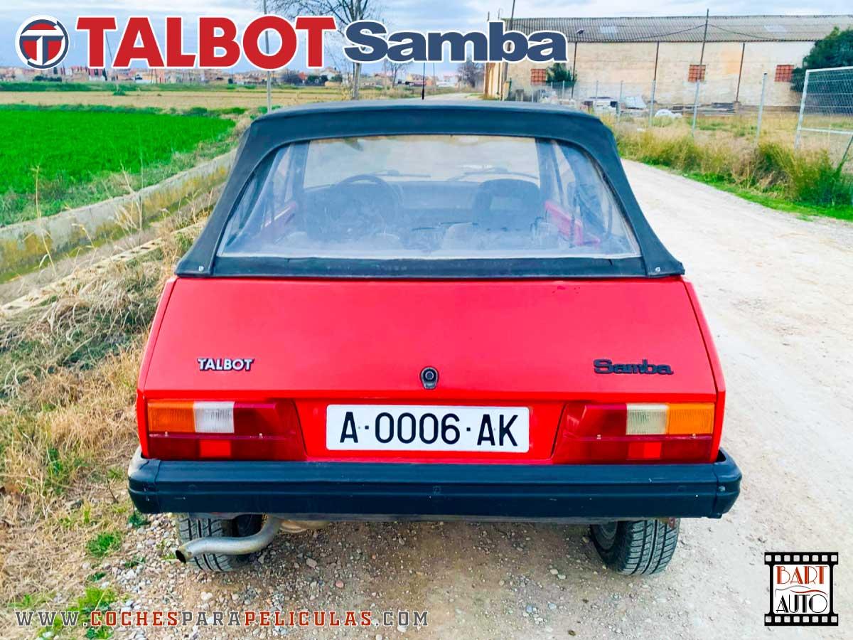 Coches de escena Talbot Samba trasera