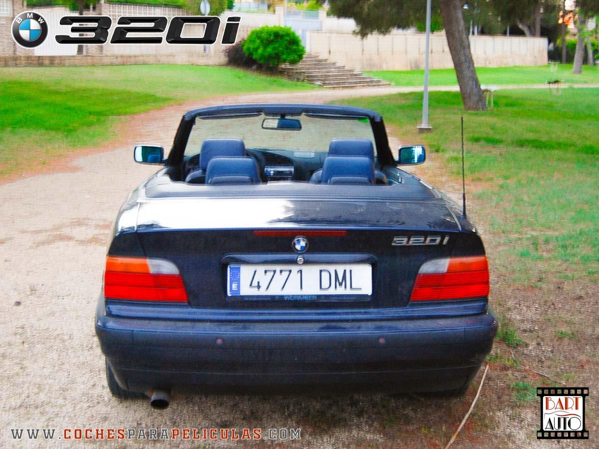 Coches para rodajes BMW 320 Cabrio trasera