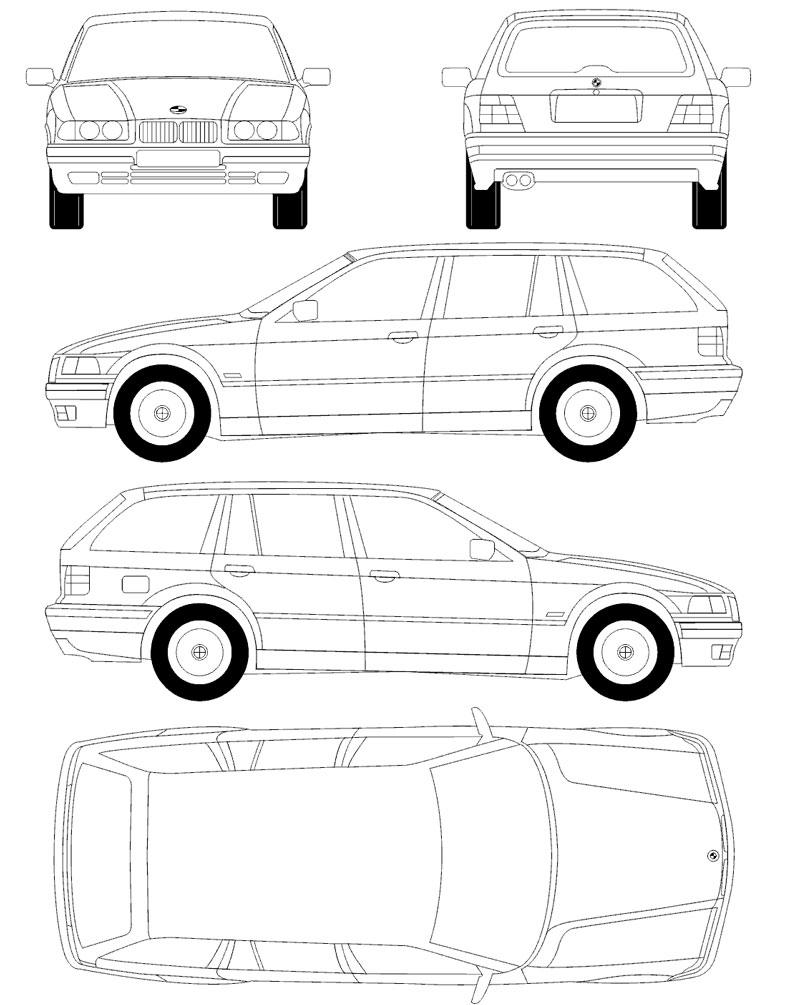 Coches para rodajes BMW 328 plano
