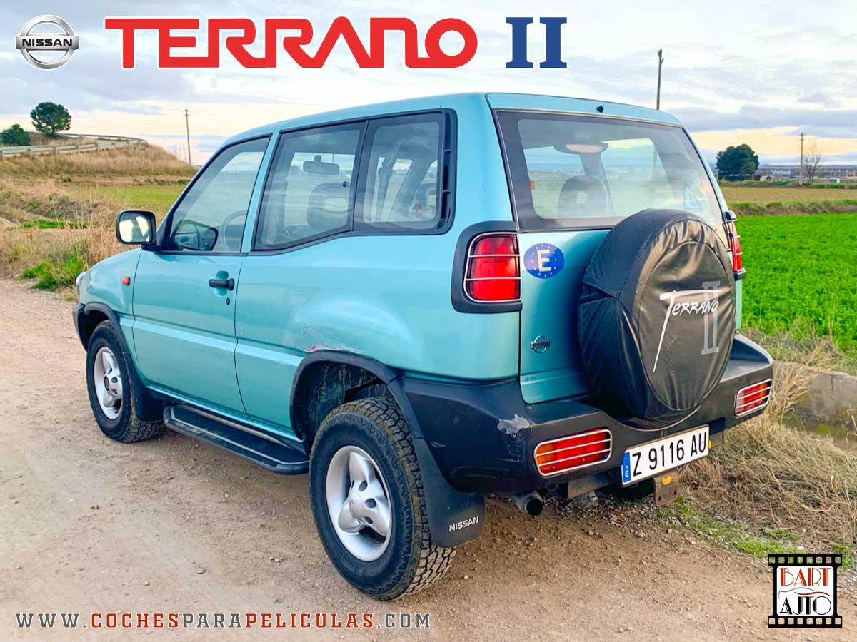 Coches para rodajes Nissan Terrano II trasera