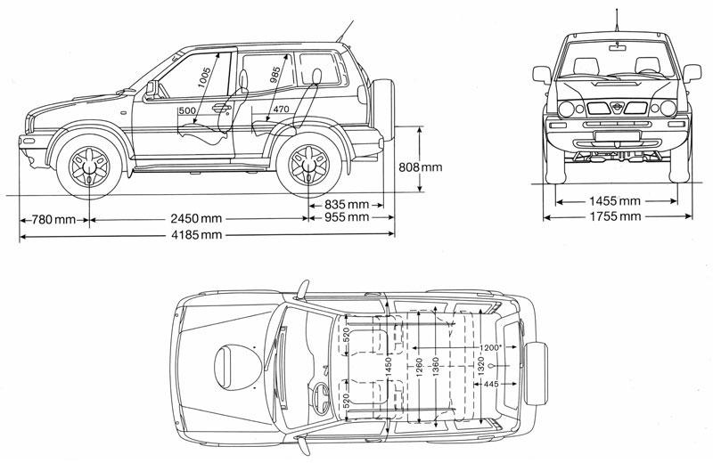 Coches para rodajes Nissan Terrano II plano