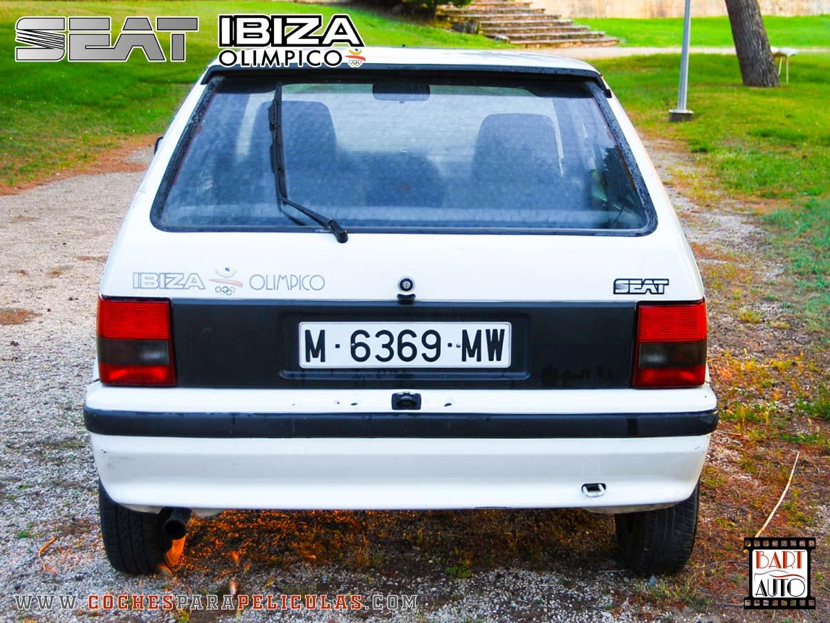 Coches para rodajes Seat Ibiza trasera