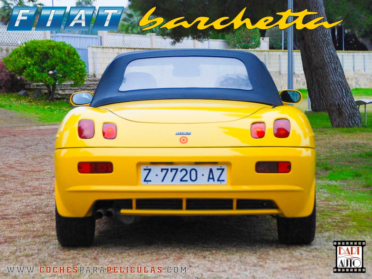 Fiat Barchetta para películas trasera