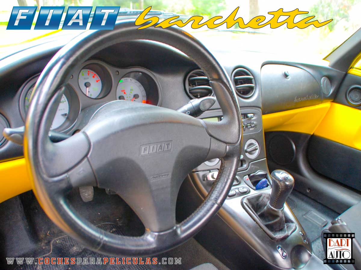 Fiat Barchetta para películas interior
