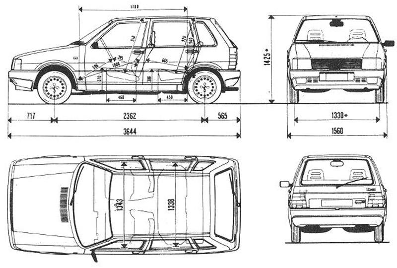 Fiat Uno Turbo para películas plano