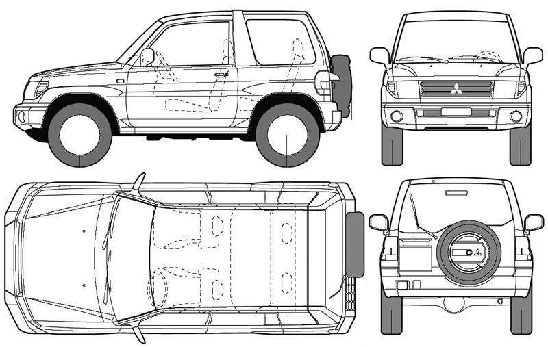 Mitsubishi Montero para películas planos
