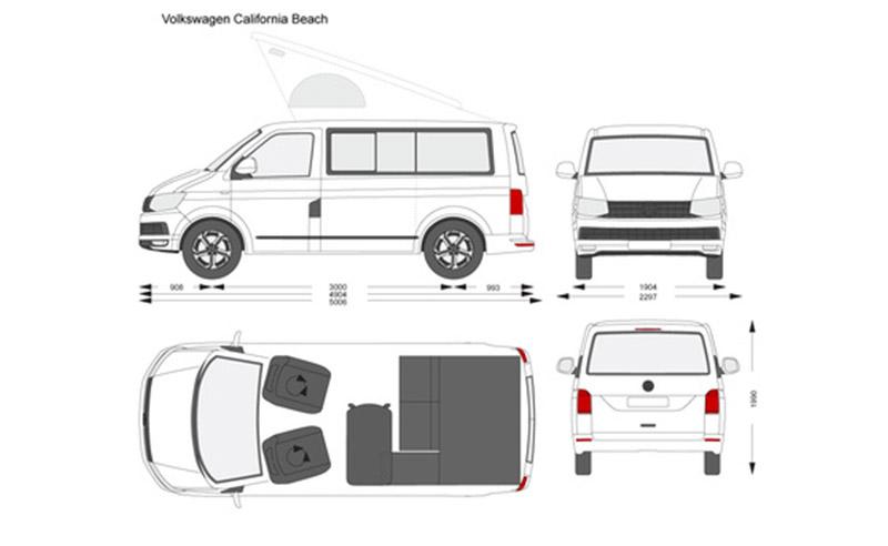 VolksWagen California para rodajes plano